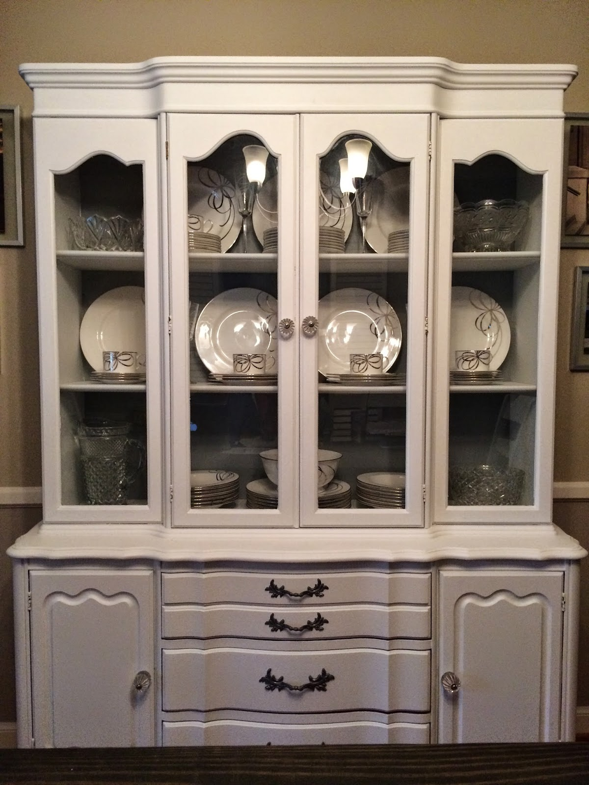 Good Here It Is! Our Beautiful New/old China Cabinet! I Feel Like A Grown Up  Now. We Have A China Cabinet. With China In It. U0026 A Piece Of My Grandmother  Is ...