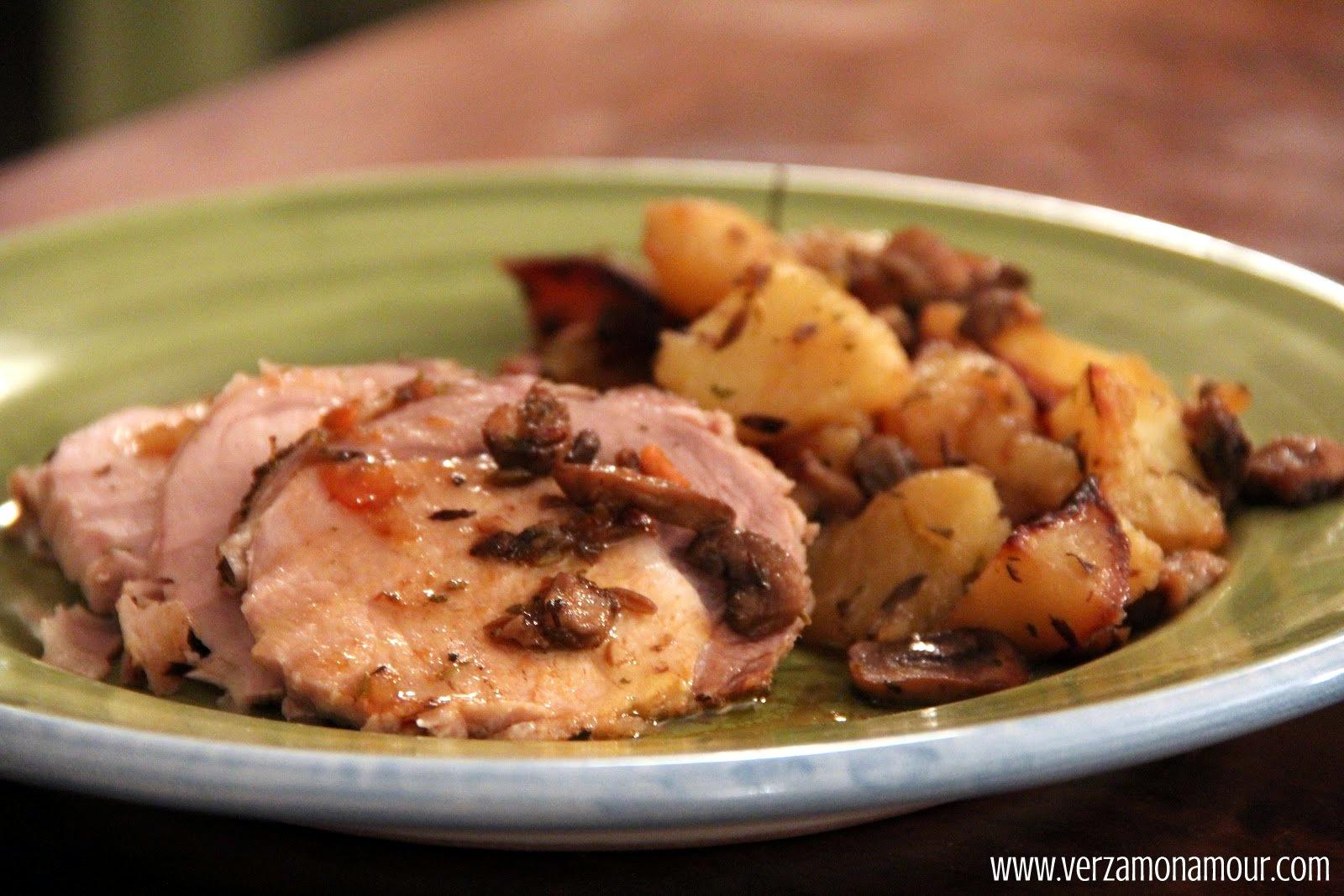 Arista di maiale al forno con patate e funghi ~ Ricette di cucina ...