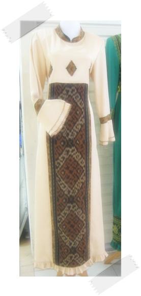 Model Baju Gamis Batik Kombinasi Modern 2014 Tattoo