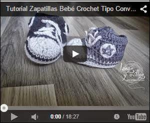Video de Paso a Paso de zapatillas Converse para bebé al crochet