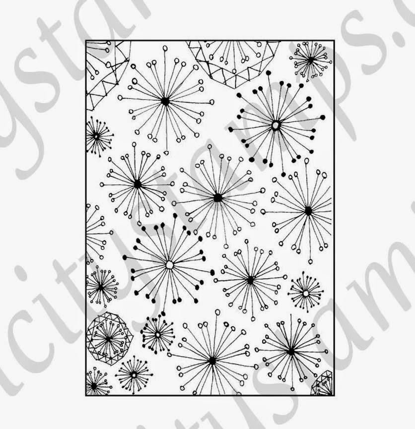 """Dandelion"" Background Rubber Stamp"