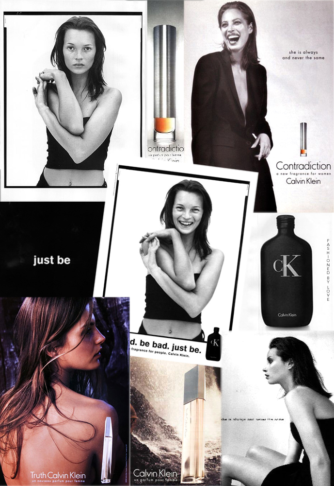 Calvin Klein Be, Truth & Contradiction perfume campaigns / Aurelie Claudel, Christy Turlington & Kate Moss / fashioned by love