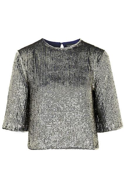 topshop sequin top, gold sequin jumper, two tone sequin top,