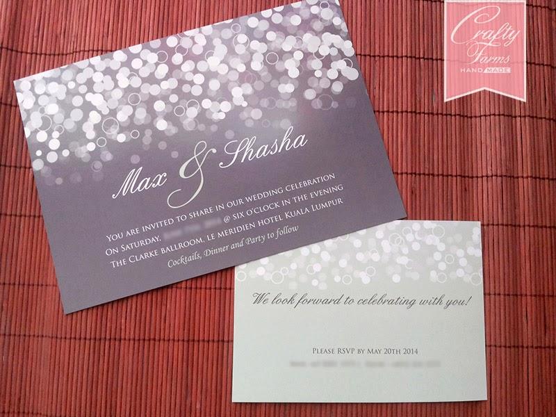 Kad Kahwin, Confetti Classic Flat Wedding Card Singapore and Kuala Lumpur