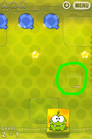how to beat level 2 10 on cut the rope