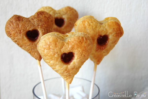 Valentine's day sweet table Saint-Valentin - Love Birds - pie pops