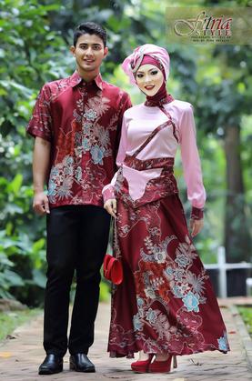 Kreasi Baju Muslim Couple Model Terbaru 2015 Trend