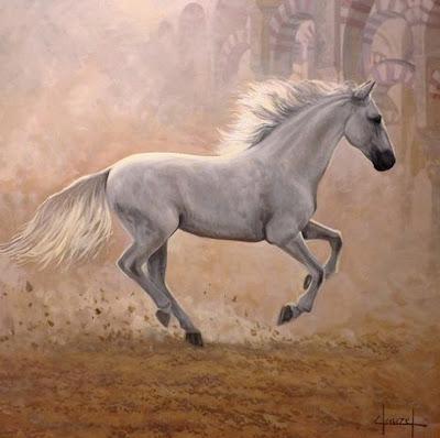 pintura-caballo-blanco
