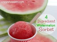 4 Ingredient Watermelon Sorbet