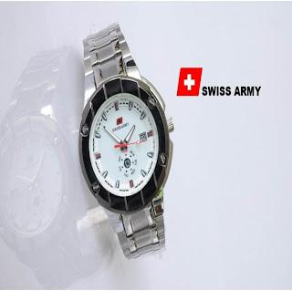 jam tangan keren SWISS ARMY SA-4398 WHITE