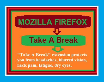 Mozilla Firefox 'Take a Break' Add-on Protects your Eyes and Health