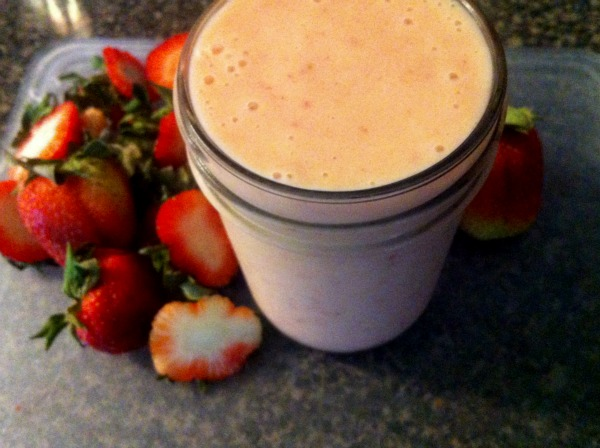 strawberry smoothie,