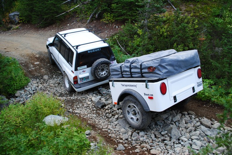 Jeep Trailer by Dinoot Trailers a build at home or custom build lightweight Jeep trailer