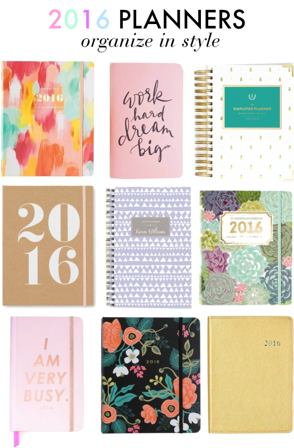 Calling all girlbosses! Organize in style with these colorful chic planners