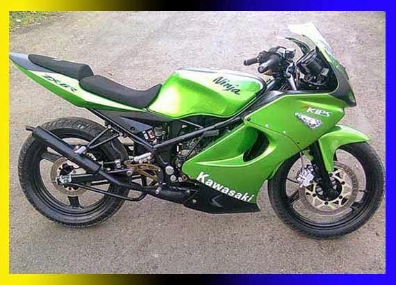 Modifikasi Ninja 150 RR Balap Edition Keren