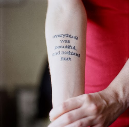 Arm Tattoo Lyrics Slaughterhouse Five Tattoo Words Favimcom 55530jpg
