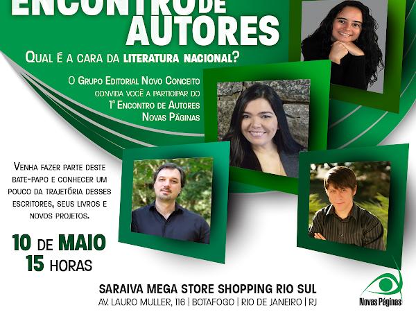 1º Encontro de Autores Novas Páginas: Felipe Colbert, Graciela Mayrink, Maurício Gomyde e Tammy Luciano (Grupo Editorial Novo Conceito)