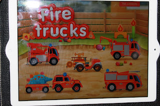Start screen FireTrucks: 911 educational iPad app