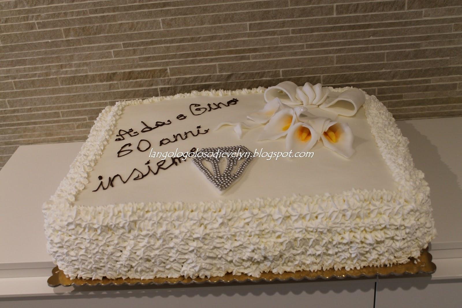 Torta nozze di diamante pasta di zucchero for Decorazioni torte per 60 anni di matrimonio
