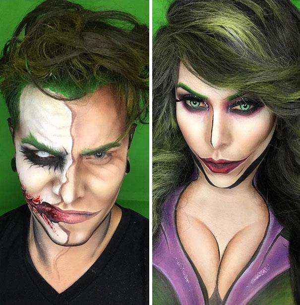 Lelaki Ini Gunakan Makeup Saja Untuk Tukarkan Dirinya Menjadi Superhero