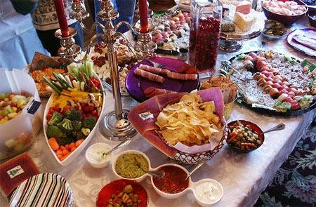 comida para la cena de navidad