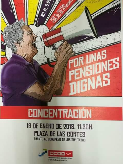 Jueves 18 Concentración por unas Pensiones Dignas