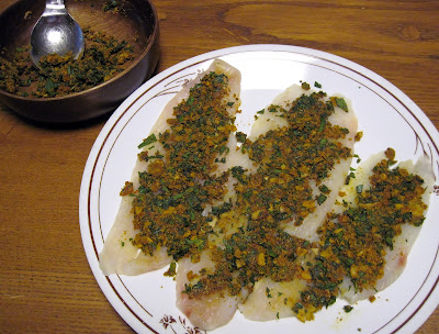 Marinating Fish in Mint & Indian Spices