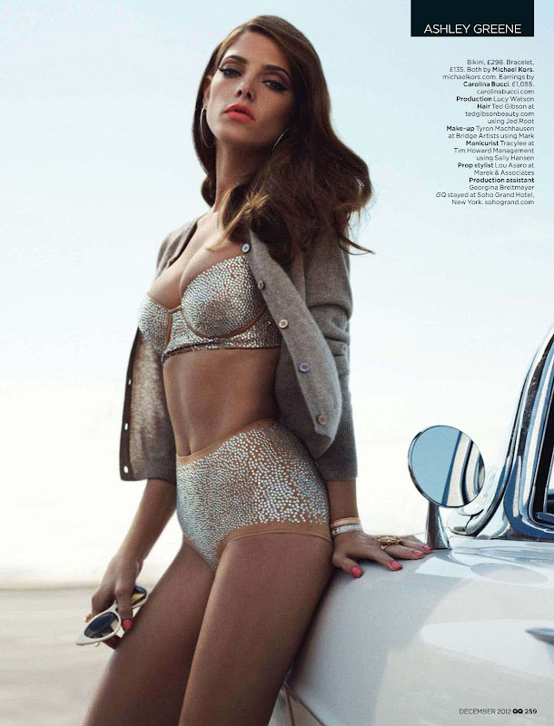 Ashley Greene  in a bikini for GQ UK December 2012