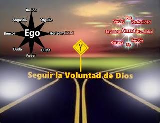 Querido, para el caso que te preguntes como puedes saber si estás siguiendo la Voluntad de Dios, indaga en tu interior y fíjate cuánta es la influencia del ego.