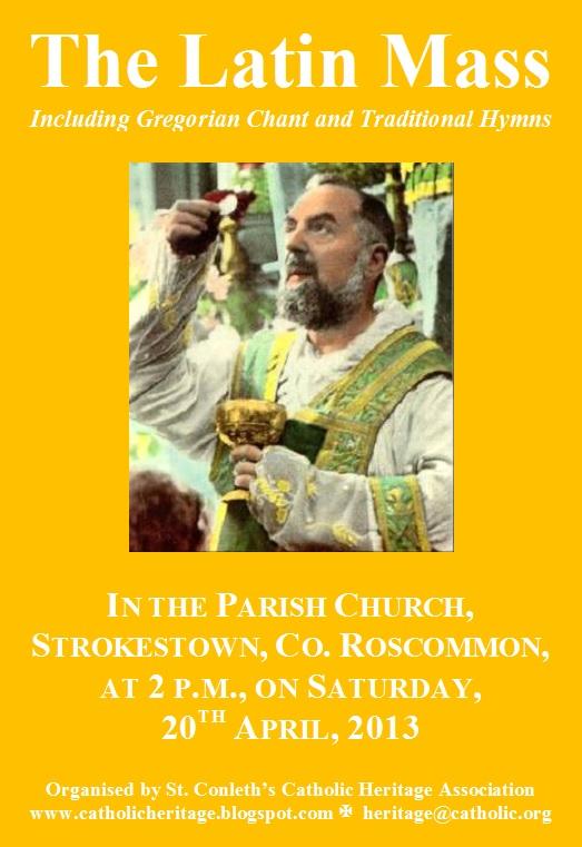 The Catholic Heritage Association Of Ireland March 2013