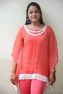 Kajal Yadav in Red Gown at Manasa Thullipadake Movie Sucecss Meet