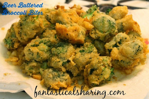 Beer Battered Broccoli Bites | Sometimes it's okay to batter healthy broccoli in beer and fry it! Everything in moderation, right?! #beer #broccoli #appetizer