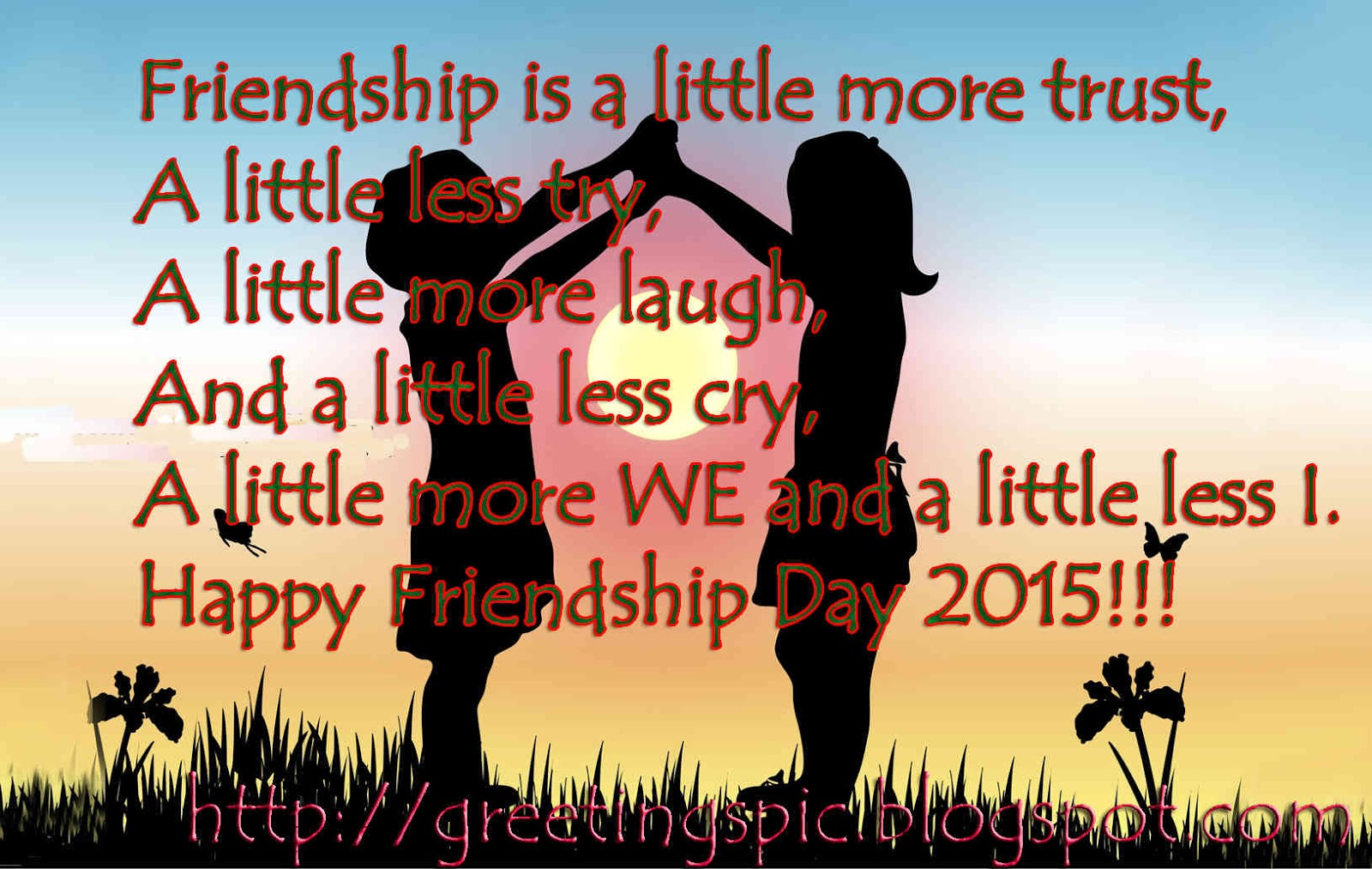 Friendship day quotes with photos ~ Greetings Wishes Images Happy Friends Quotes