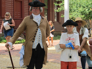 Colonial Williamsburg - Hanging out with historic heros