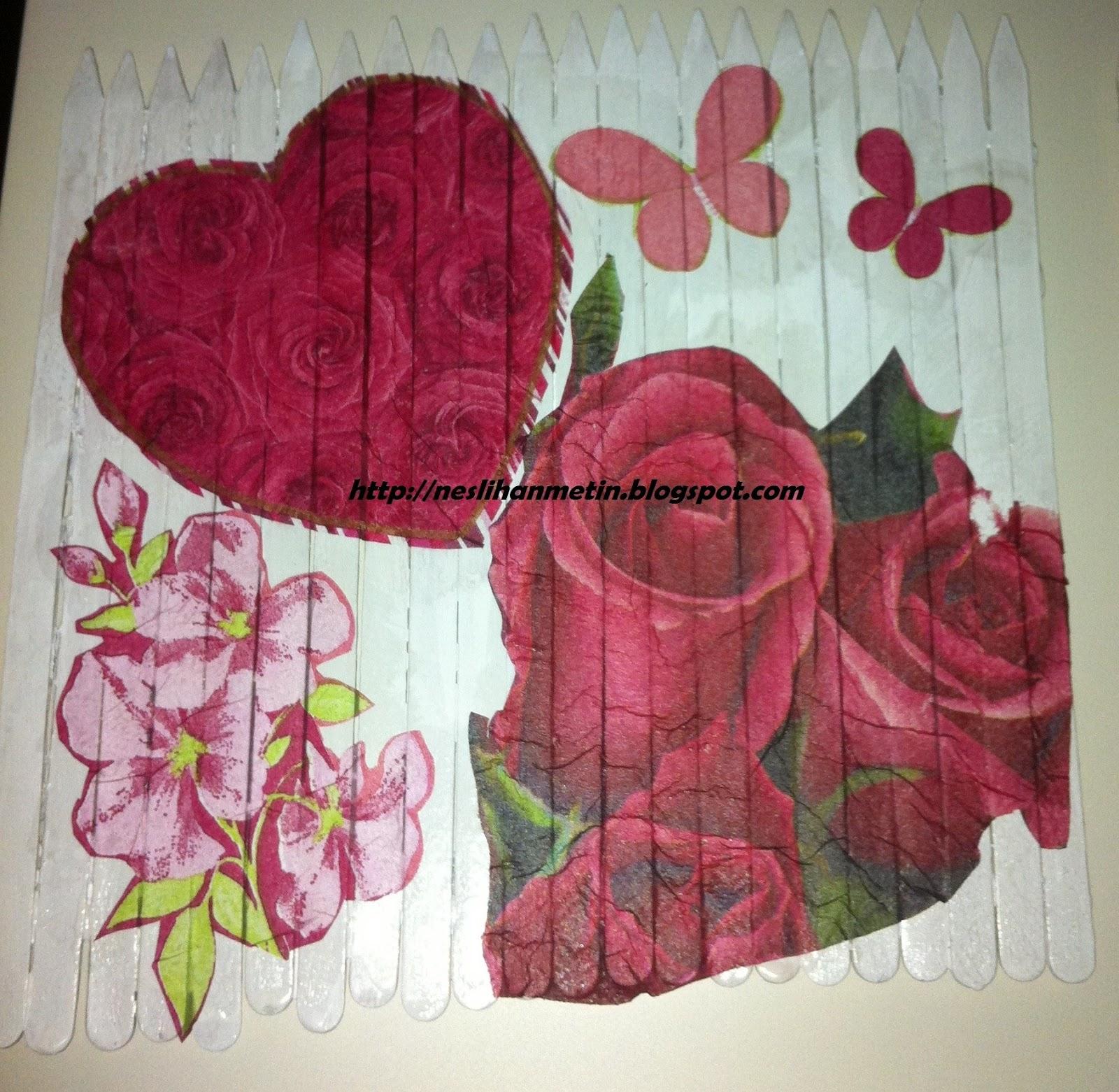 Şişe Mantarından Kalpli Pano Yapımı