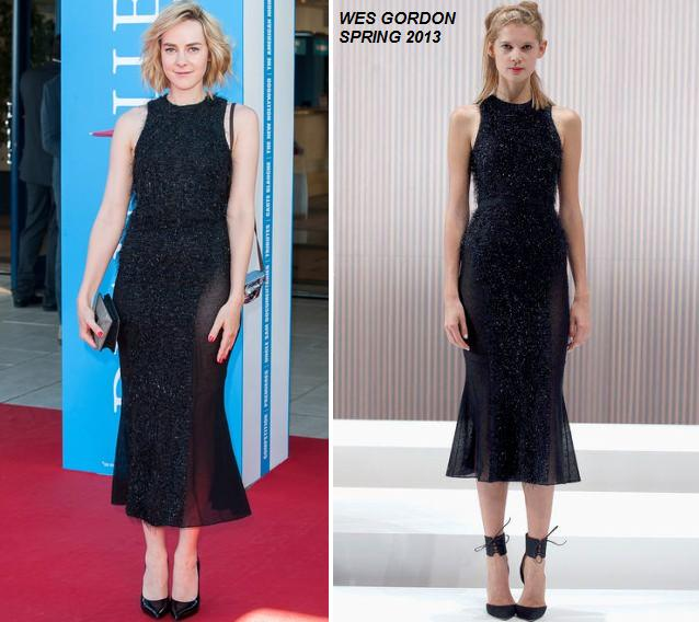 Jena Malone In Wes Gordon At 'the Wait' Premiere During Deauville Film