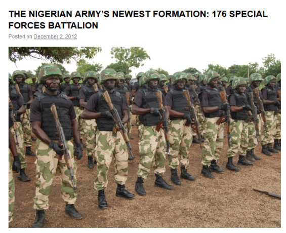SHOCKING: Nigerian Govt Tweets Fake PHOTO of  Nigerian troops in search of missing girls