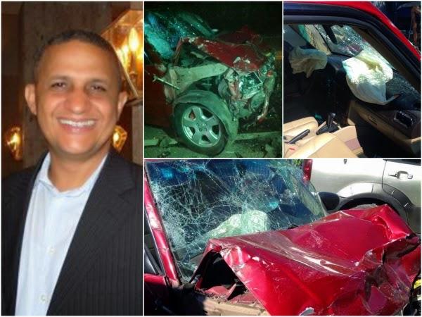 El comunicador cristiano Franklin Veloz agradeció la mano de Dios en un accidente automovilístico en el que salió ileso la noche de este sábado en la carretera Puerto Plata-Maimón.