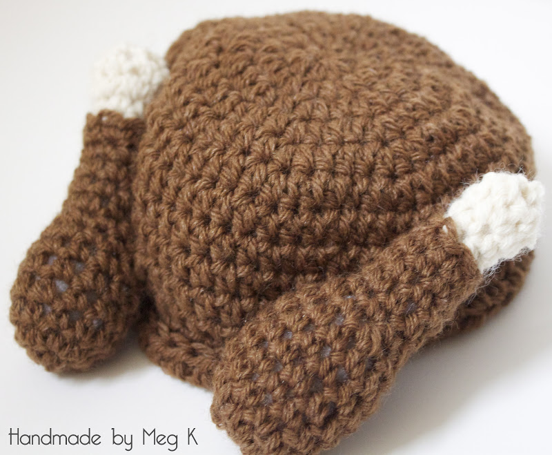 Handmade by Meg K: DIY Crocheted Turkey Hat