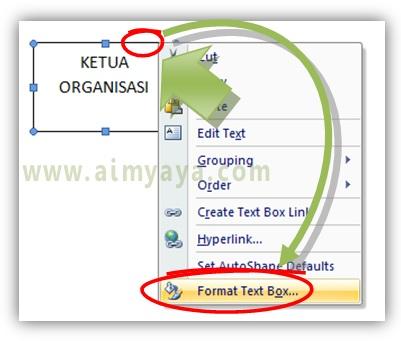 Gambar: Cara mengatur format kotak teks di Microsoft Word