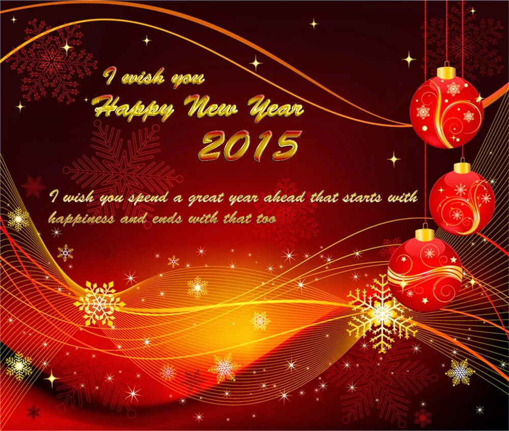 Best Wishes for Happy New Year Greetings Cards 2015