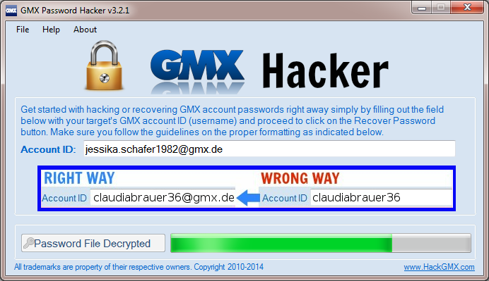hotmail password hacker v2.8.9 activation code
