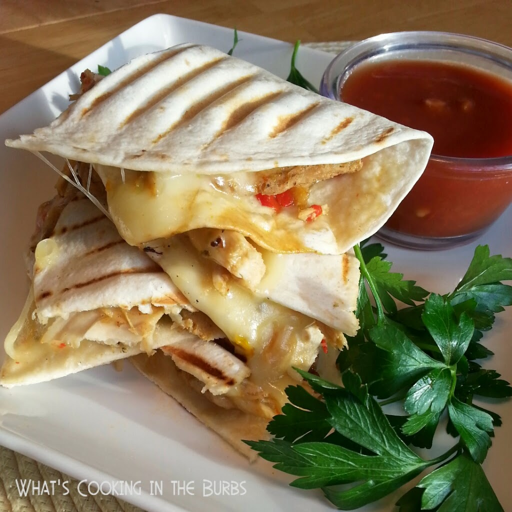 What's Cooking in the Burbs: Crock Pot Chicken Fajita Quesadillas