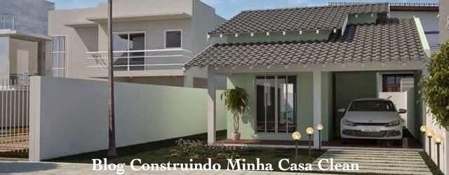 Construindo minha casa clean fachadas de casas t rreas for Casas pequenas con fachadas bonitas