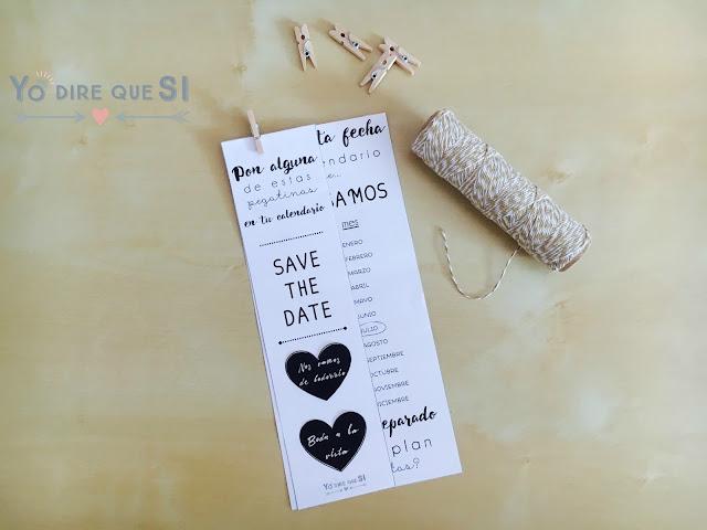 Save the Date para tu boda. ¡¡¡Plantilla gratis descargable!!!