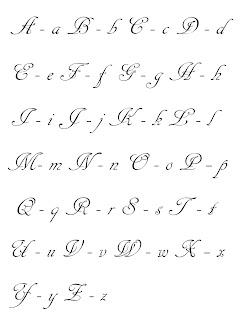 vez en cuando no recuerdan como hacer alguna letra en particular ...