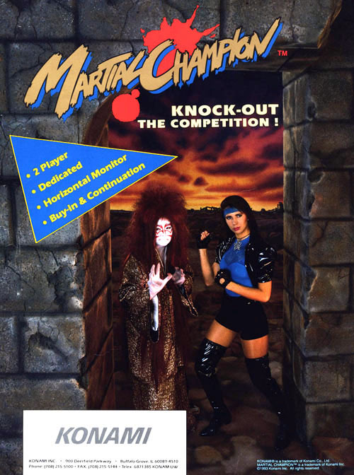 martial champion arcade flyer