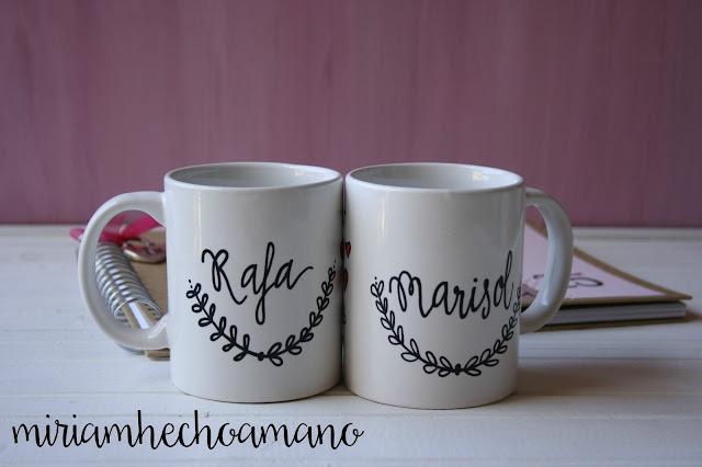 tazas caligrafía