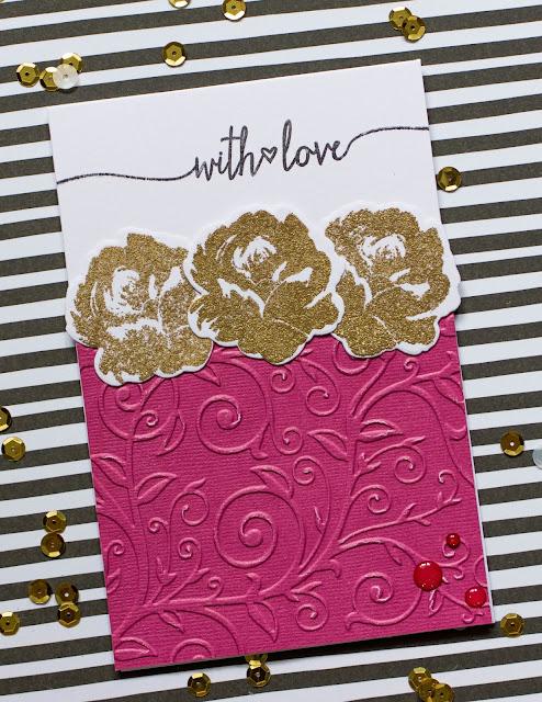 CaS card with Altenew vintage flowers by @pionizglini #cas #cardmaking #altenew