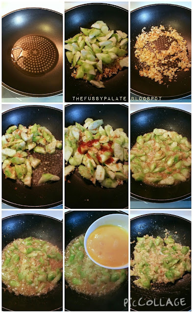 The Fussy Palate: Stir Fried Luffa Gourd with Egg
